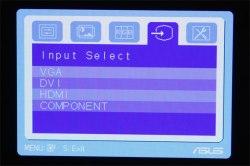 ASUS VW266H OSD меню настроек