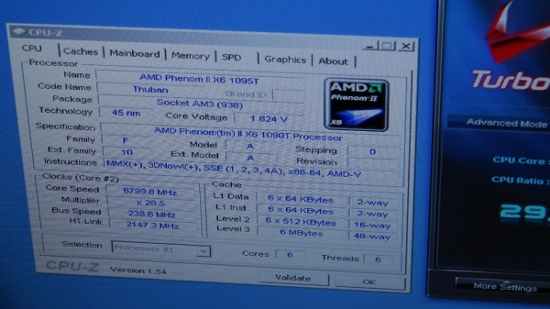 AMD Phenom II X6 1090T BE разгон до частоты 6,8 ГГц