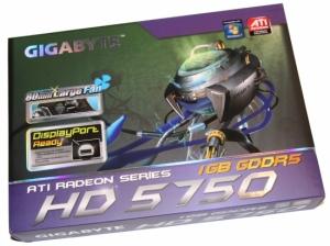 Коробка GIGABYTE Radeon HD 5750 1GB