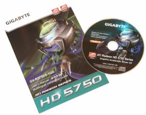 Комплектация GIGABYTE Radeon HD 5750 1GB