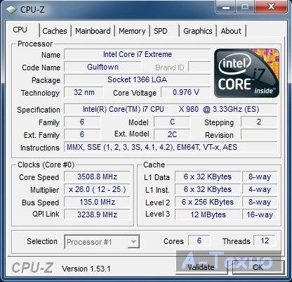core i7-980x cpu-z