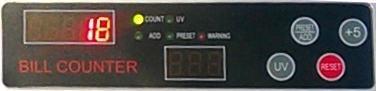 дисплей счетчика банкнот BCASH BC888-UV