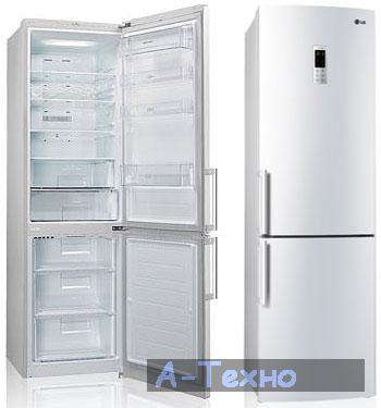двухкамерные холодильники lg фото