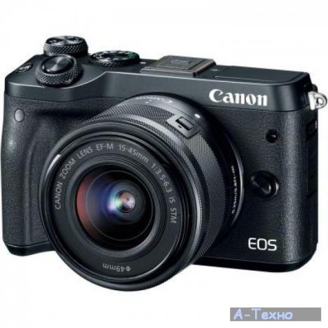 CANON EOS M6 Kit Black 15-45mm f/3.5-6.3 IS STM EF-M (1724C043AA) - Фото 1