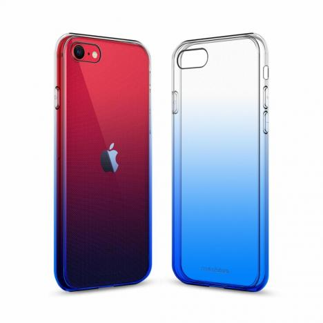 Чехол для моб. телефона MakeFuture iPhone SE 2020 Gradient (Clear TPU) Blue (MCG-AISE20BL) - Фото 1