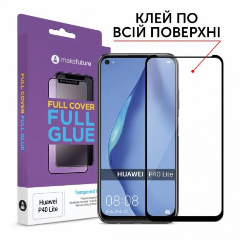 Стекло защитное MakeFuture Huawei P40 Lite Full Cover Full Glue (MGF-HUP40L) - Фото 2