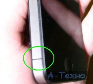 iPhone 4 две металлических части боковой панели - антены Wi-Fi