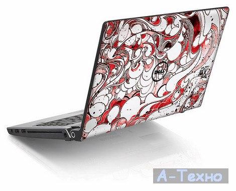 Dell Studio 17 Red Swirl