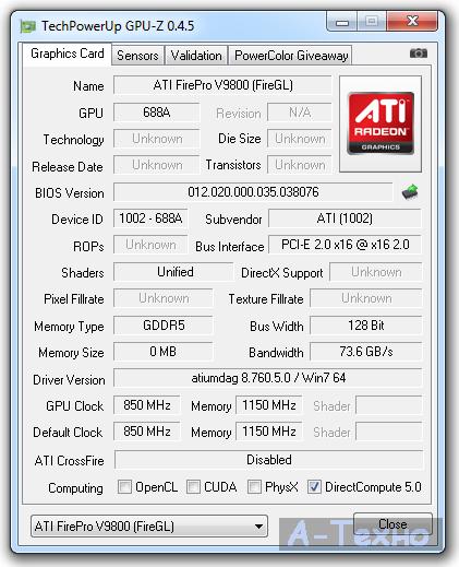 GPU-Z V9800