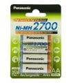 Panasonic High Capacity AA 2700 mAh 4BP NI-MH (BK-3HGAE/4BE)