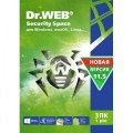 Dr. Web Security Space, 3 ПК 1 год карт. конверт (KHW-B-12M-3-A3)