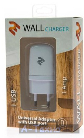 2E USB Wall Charger 1A, white (2E-WCRT11-1W)