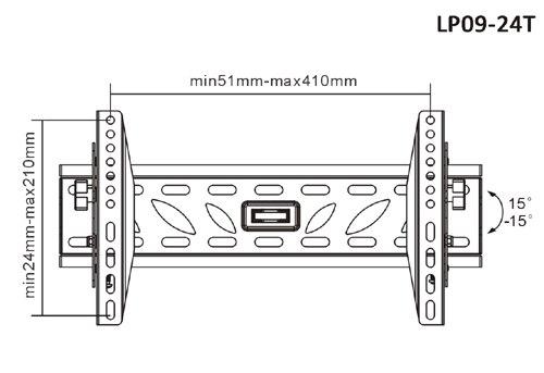 BRATECK LP09-24 T B черный
