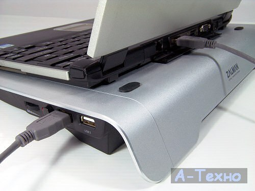Підставка до ноутбука Zalman ZM-NC1000 Silver 308х330х40 мм, 1.195 кг, срібляста, 2 вентилятор, 18 дБ, 1100 RPM